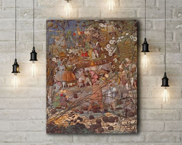 Richard Dadd: The Fairy Feller's Master-Stroke. Fine Art Canvas.
